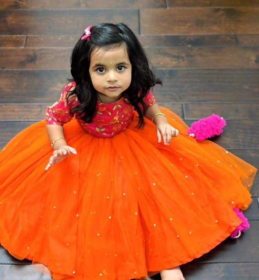 Pin By Manjula Reddy On Kids Fashion Baby Gowns Girl