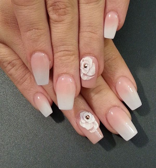 40 Nude Color Nail Art Ideas   Gradient nails, Nude and Beauty nails
