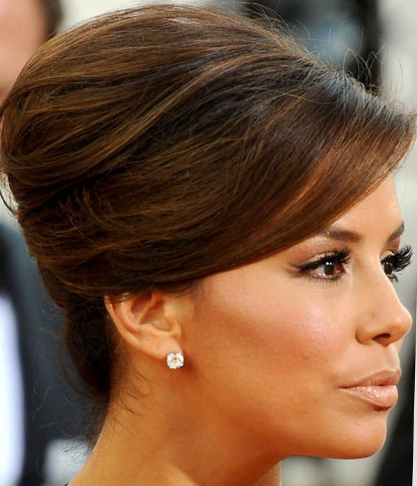 Eva longoria updo hair beauty pinterest eva longoria eva longoria french twist eva never ceases to disappoint on the red carpet the actress gave her plunging neckline the perfect finishing touch with a pmusecretfo Choice Image