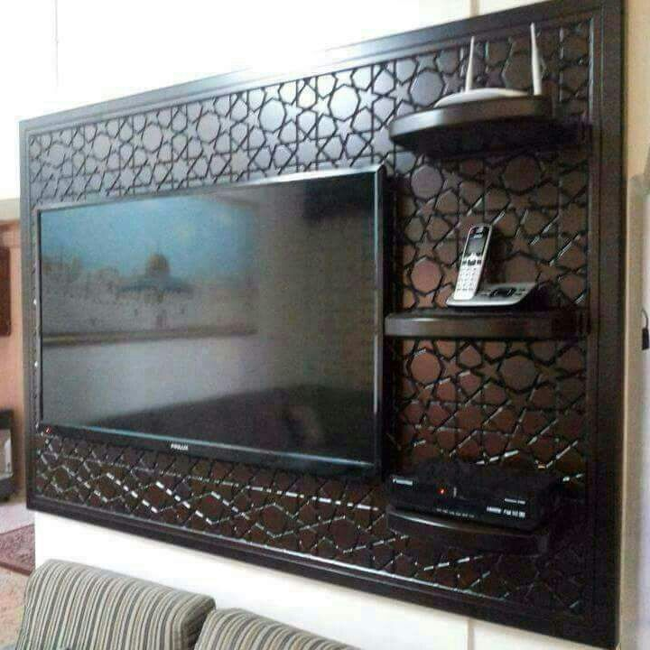 Meuble tv salons marocains en 2019 moroccan home decor tv wall decor et home decor furniture - Meubler petit salon ...