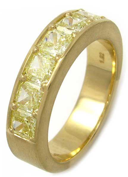 Natural Yellow Diamond Wedding Band