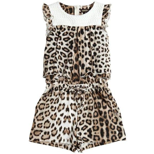 c42214872d Roberto Cavalli Kids-girls Leopard Printed Jersey Jumpsuit (185 CAD) ❤  liked on
