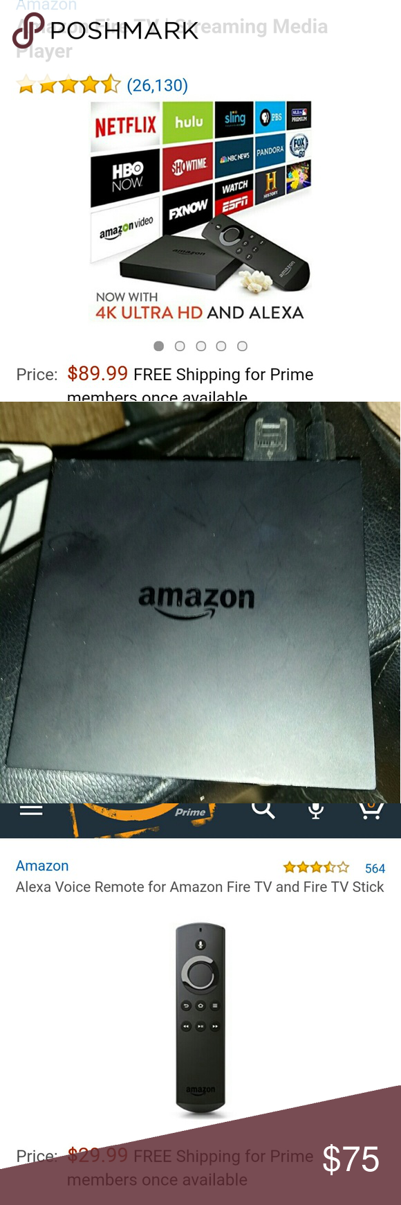 Amazon fire tv (w/out voice activated remote ) (Amazon
