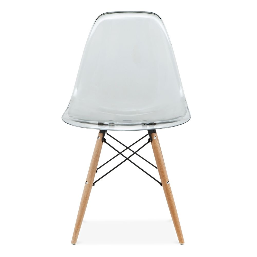 Iconic Designs Dsw Style Chair Black Transparent Dsw Chair Chair Cafe Chairs And Tables
