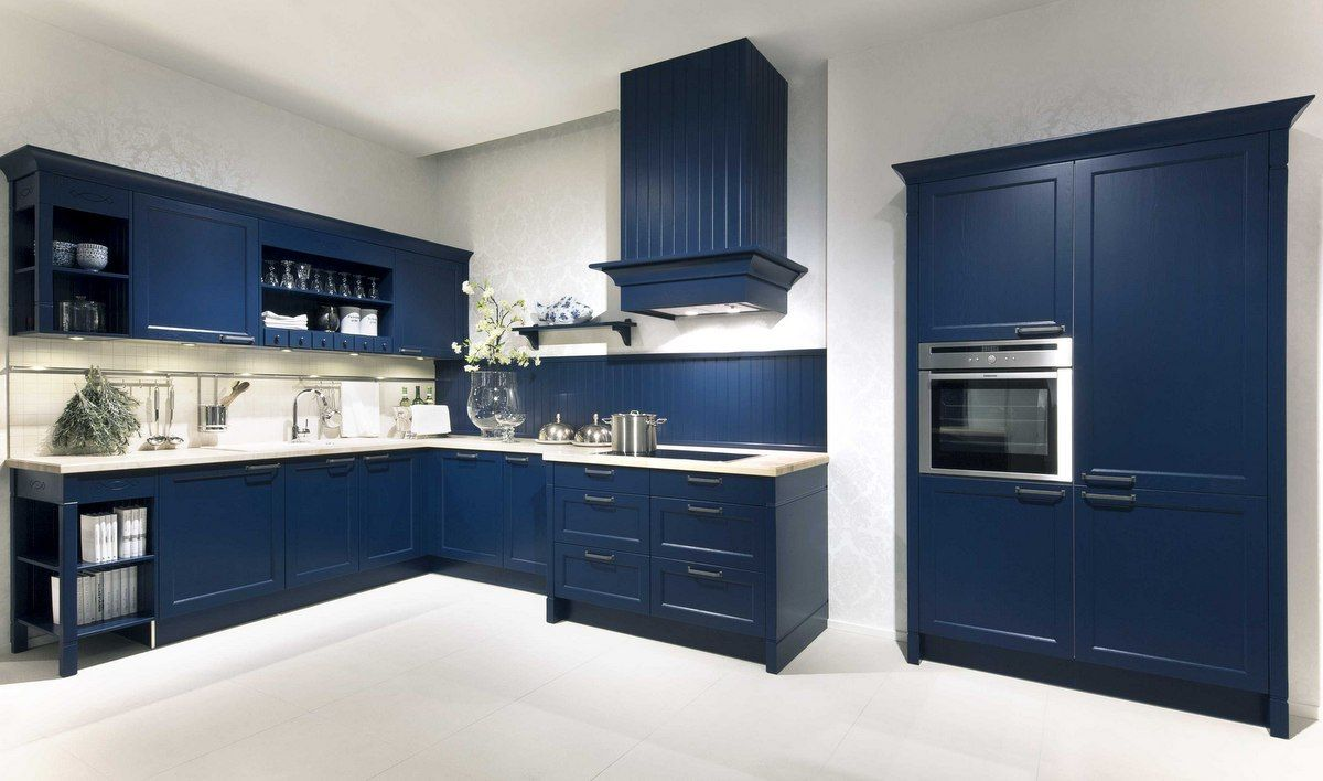 Häcker Küchen: Küche Bristol (Esche Achatblau lackiert) - Küche ... | {Häcker küchen landhausstil 35}