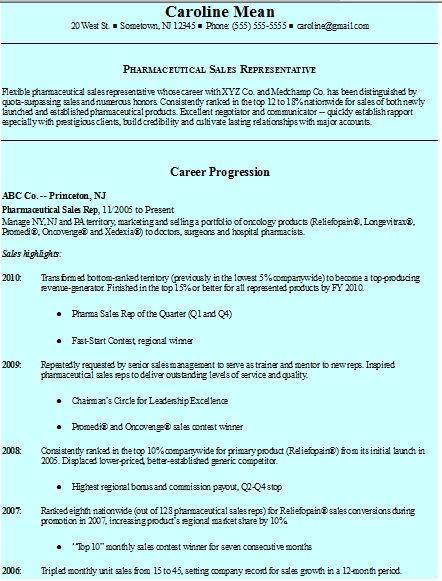 Resume Farma Sales Sample http://www.resumeformats.biz/new-cv-format ...