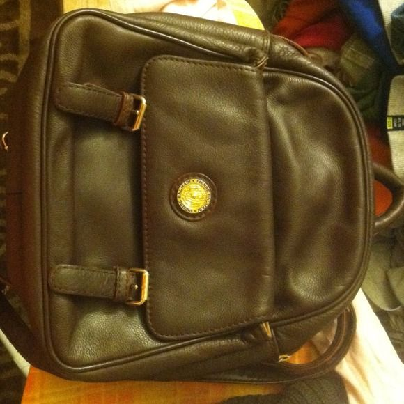 Pierre Balmain Leather Backpack 100% Authentic. Genuine leather: brown. Serious inquires only. Great condition. pierre balmain Bags Backpacks