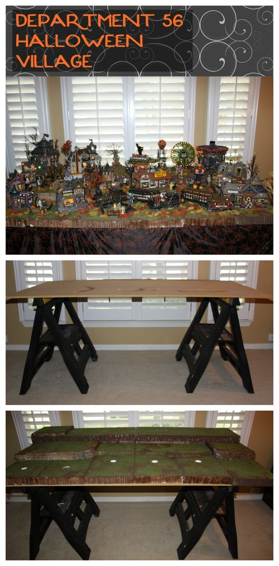 Halloween Village - Department 56 Display - Love, Laughter, and a Touch of Insanity