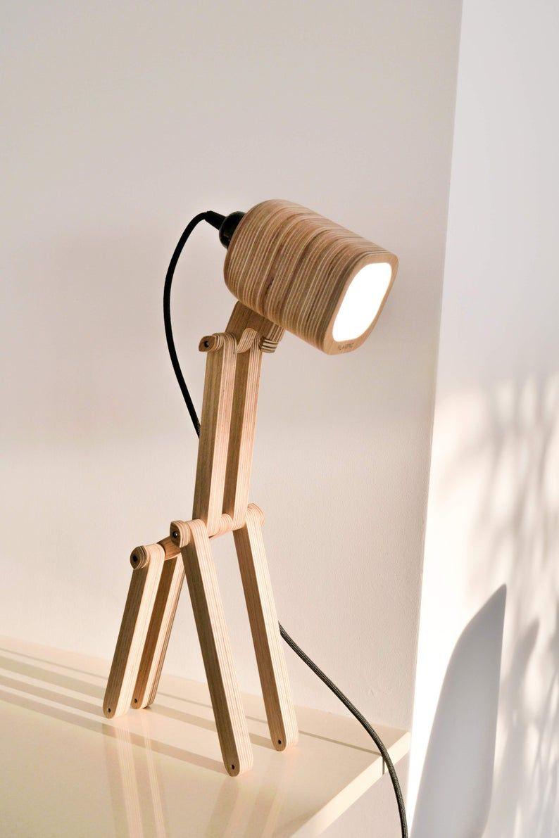 Desk Lamp Transformer 4 In 1 Is Unique Lamp In Natural Etsy In 2020 Wood Lamp Design Diy Table Lamp Table Lamp Wood