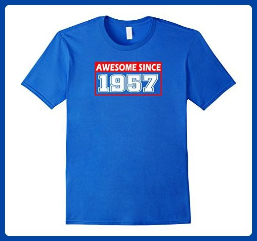 Mens Awesome Since Legends Born In 1957 Birthday  60 Years Old 2XL Royal Blue - Birthday shirts (*Amazon Partner-Link)