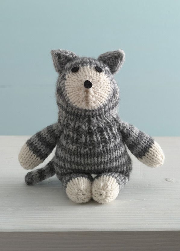 Purrfect Kitty Sock Critter in Lion Brand Wool-Ease - A free pattern ...