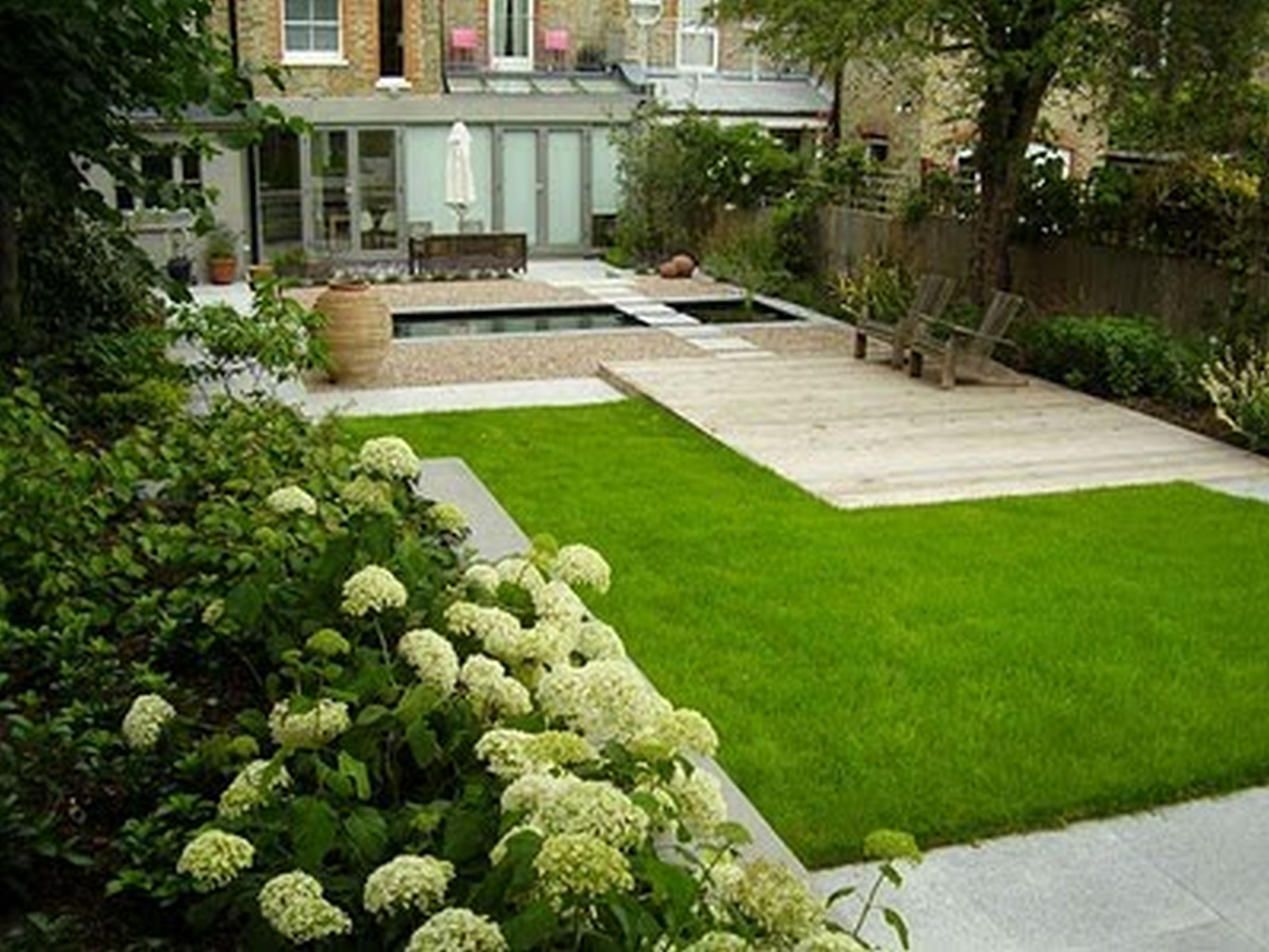 8 Garden Designs For Rectangular Gardens Ideas  Backyard