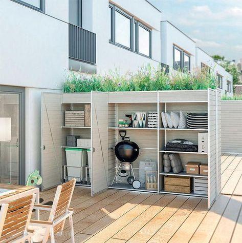 Sichtschutz Fur Balkon Und Terrasse Balkon Sichtschutz Aufbewahrung Garten Modernes Haus Aussen