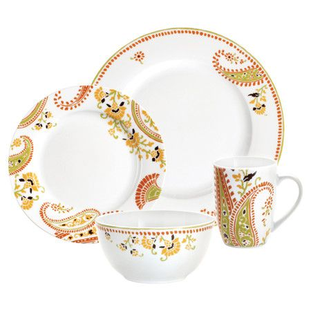 4 Piece Paisley Placesetting at Joss & Main
