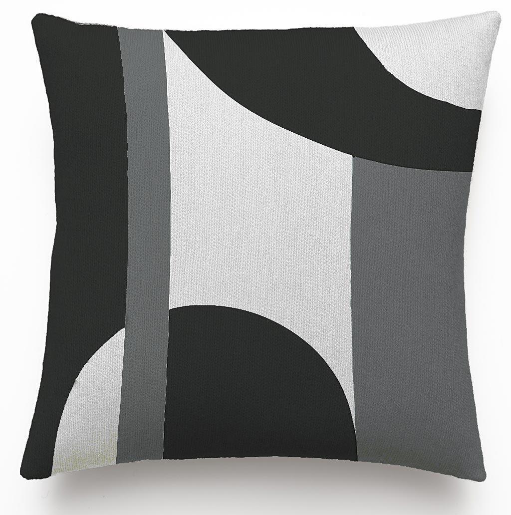 Judy ross textiles handembroidered chain stitch luna throw pillow