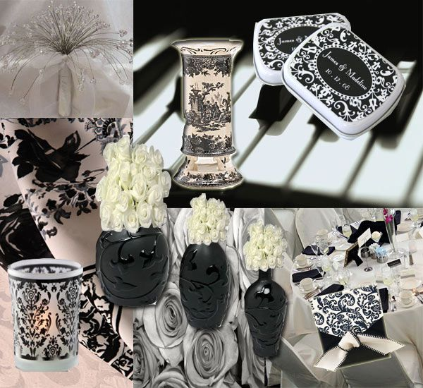 Black White Red Gold Reception Decorations And Wedding Ideas Delve Into Table