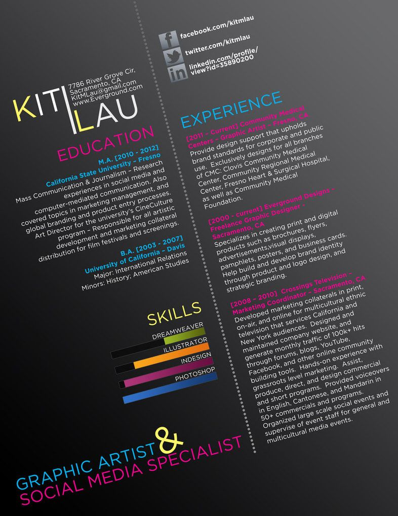 graphic resume creative cv by ison