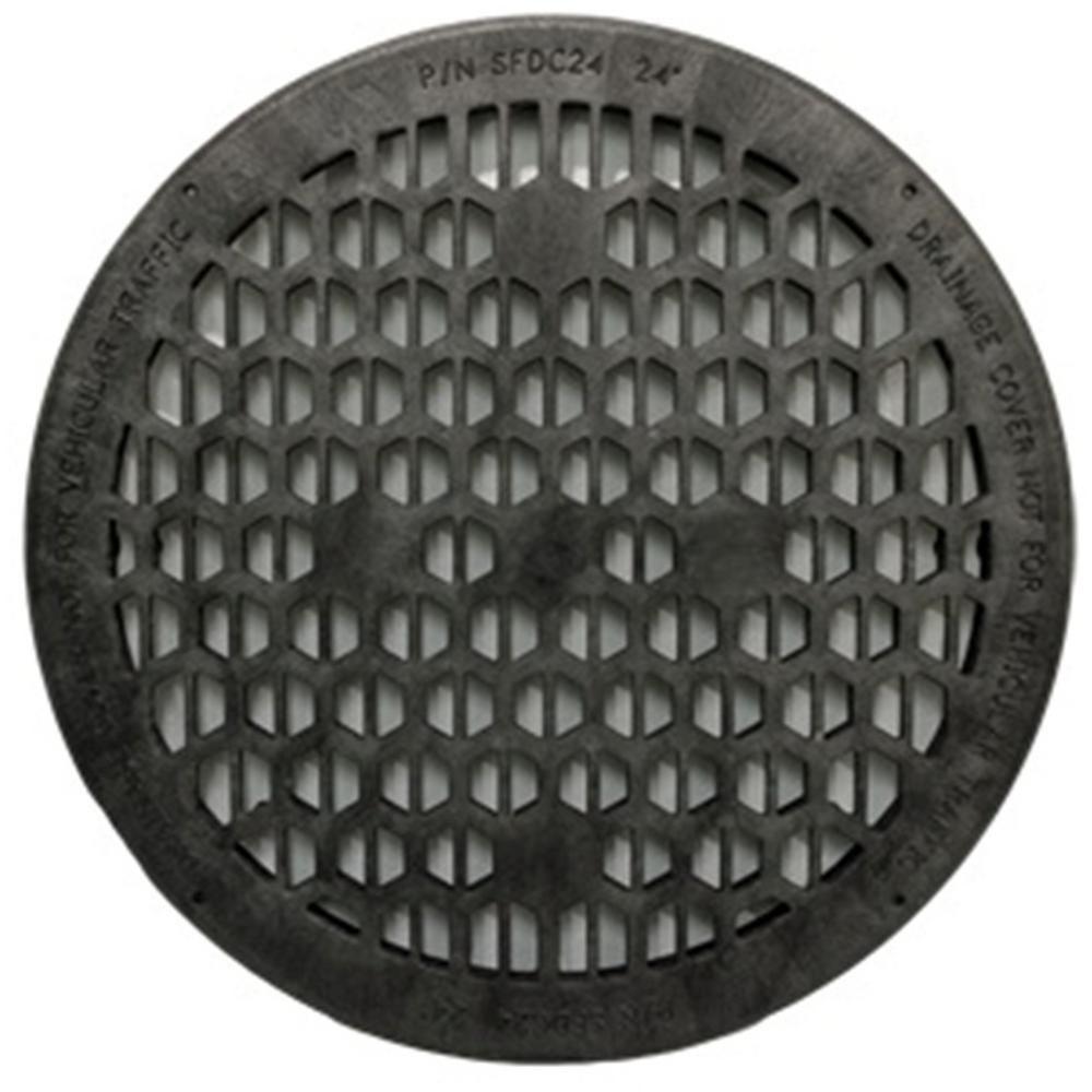 Jackel 24 In Black Drainage Cover Drainage Fake Rock Covers Sump Pump