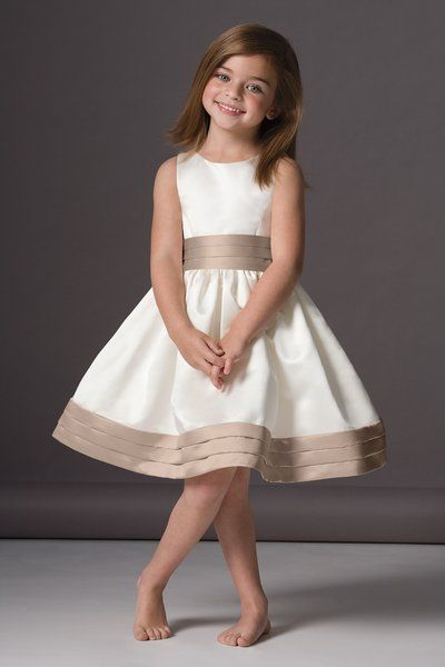 a048db1c67f0 Cute flower girl dress with a pop of color.