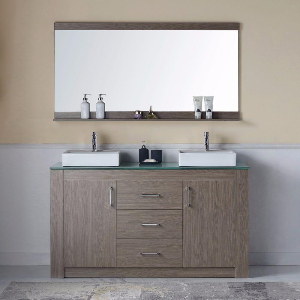 Virtu Usa Kd 90060 G Go Tavian 60 Double Square Sink Aqua