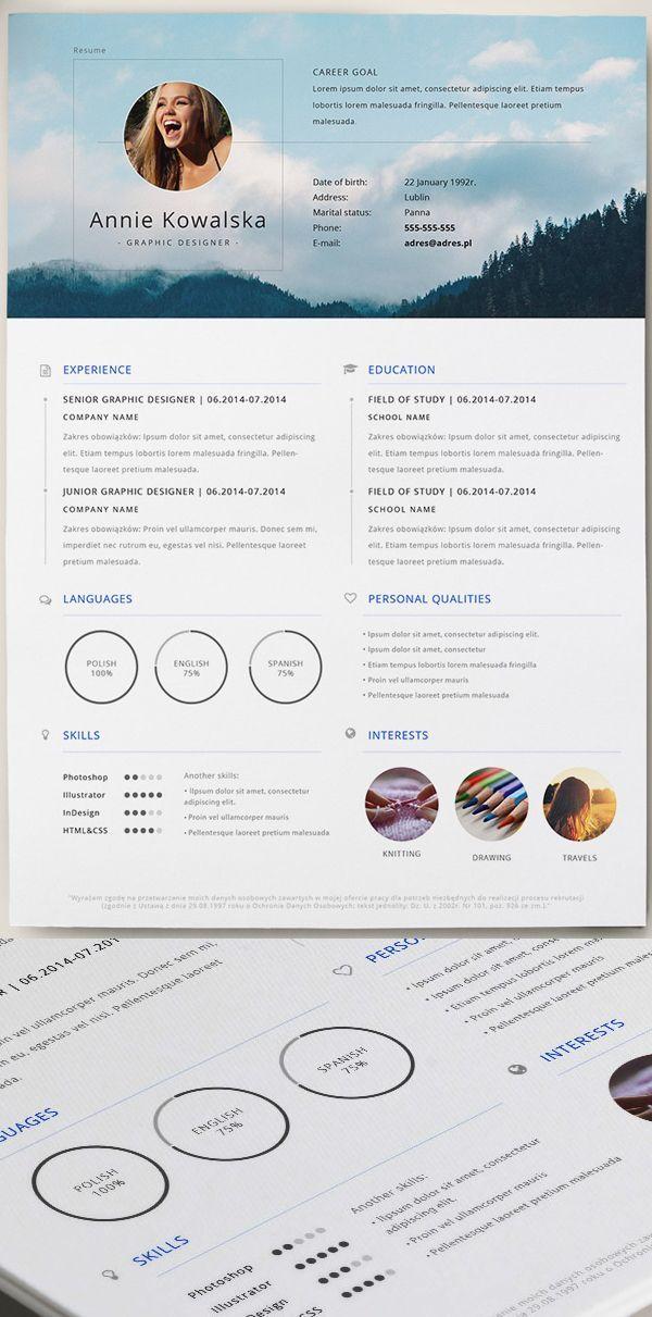 free minimalistic  resume   cv  template  ai
