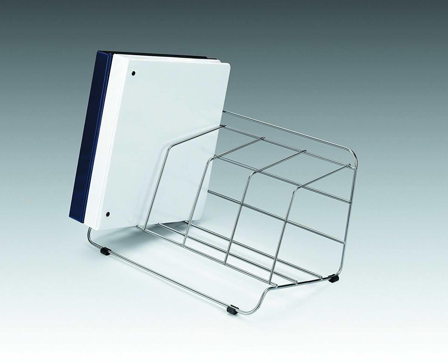 Fellowes catalog rack 4 compartment wire