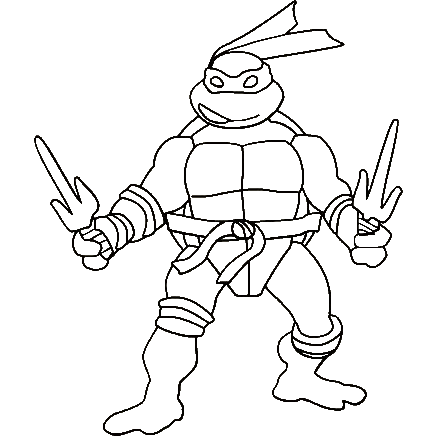 Ninja Turtles coloring pages Projektek amiket kiprblnk