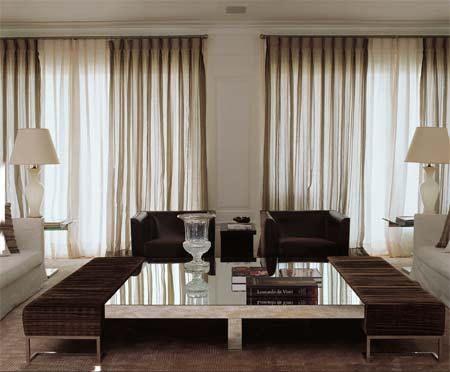 Cortinas para salas modernas 14 cortinas pinterest for Cortinas comedor modernas