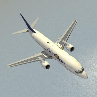 B737-400 Air One - 3D model    #3Dmodel