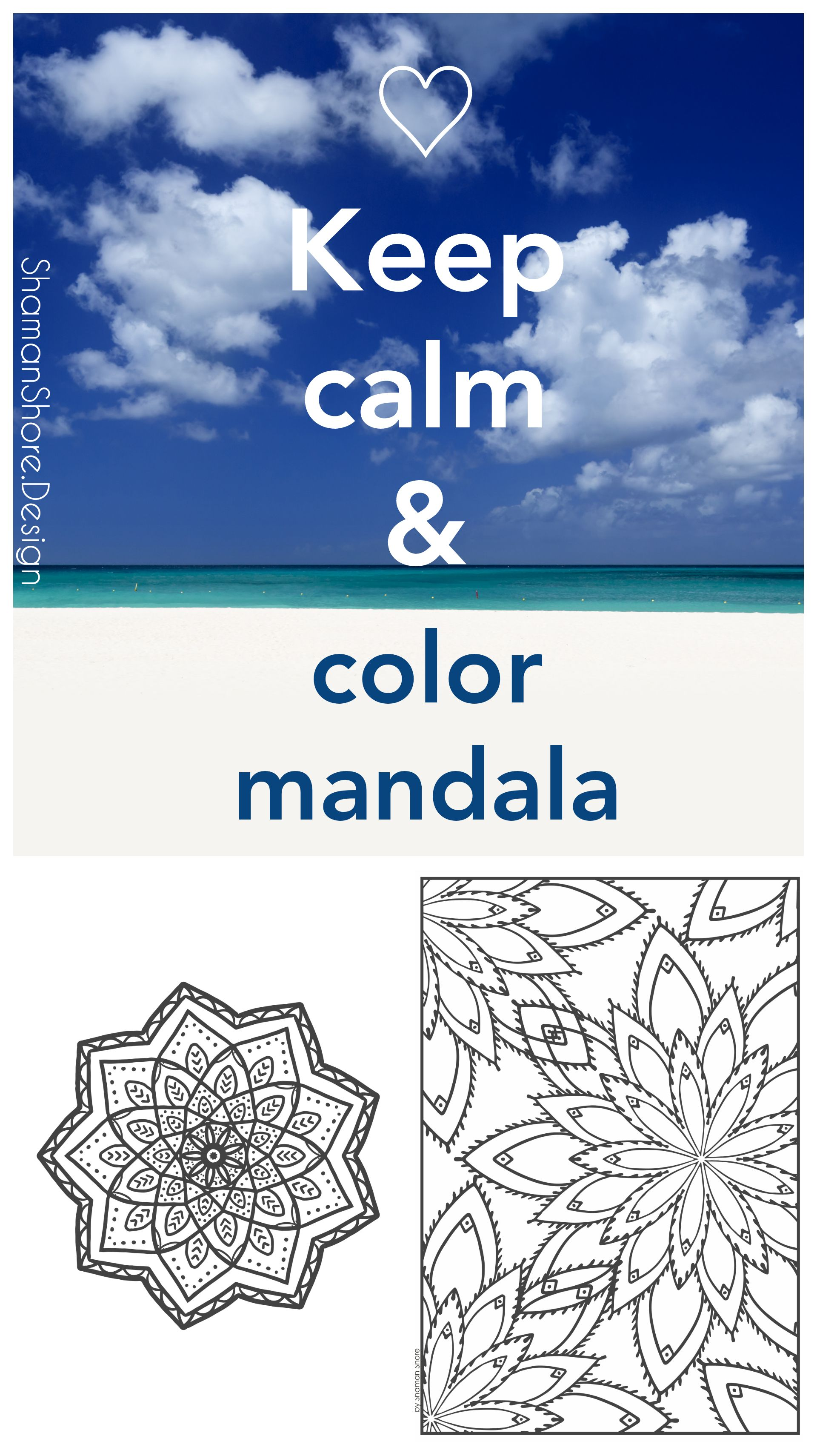 Mandala coloring pages for grown ups   Printable coloring book for adults on Etsy, Mandalas   Coloring as a new form of meditation, Anti-stress coloring  #ShShPrintables