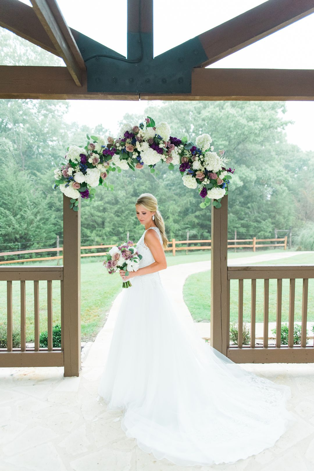 Beautiful bride. She had a lavender wedding at THE SPRINGS