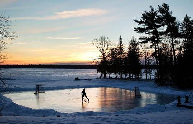 Holiday Magic On Lake Wingra Pickup >> Hockey Day In Canada Winter Hockey Outdoor Rink Canada Hockey