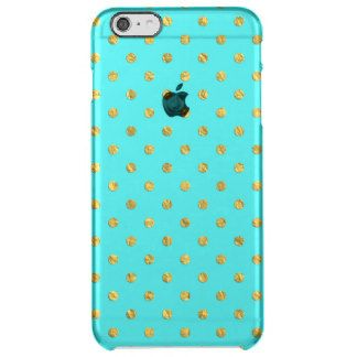 Golden dots on aqua backround uncommon clearly™ deflector iPhone 6 plus case