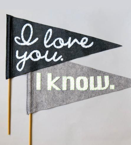 Large I Love You Felt Wedding Flags | Collections Wedding | betawife | Scoutmob Shoppe | Product Detail