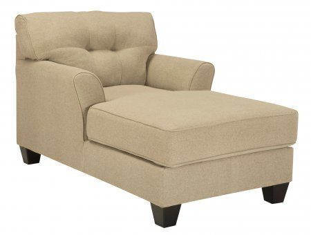 philanthropy The Laryn chaise is covered in a plush polyester