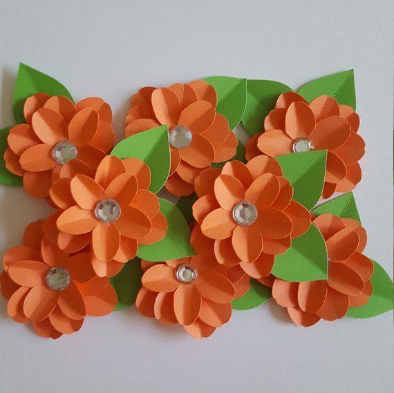 Paper Flowersmall Paper Flowers Little Flower Decor Paper Flowers