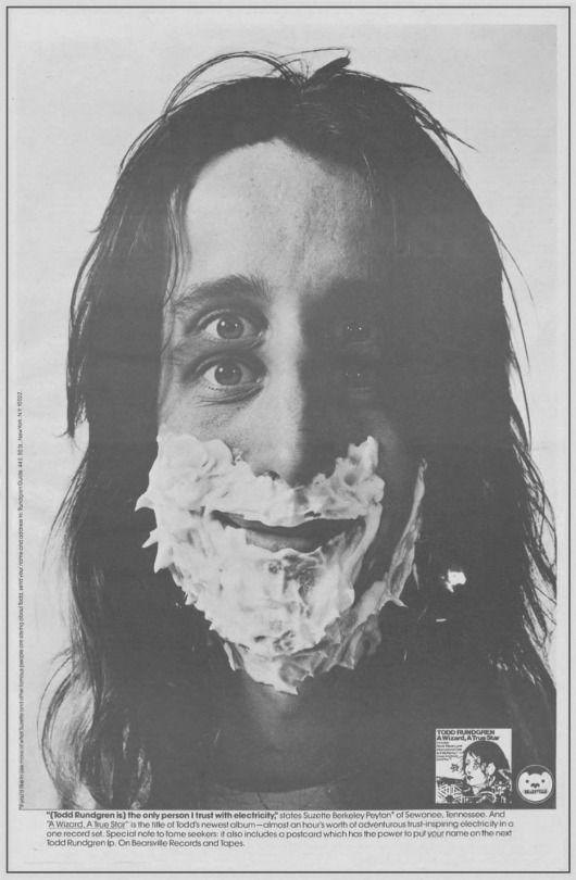 Ad for Todd Rundgren's 'A Wizard, A True Star' album – 1973