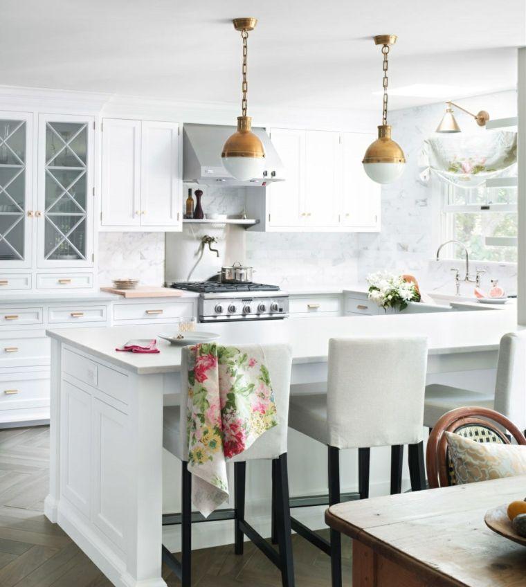 cocina blanca al estilo clásico home Pinterest Diseño de
