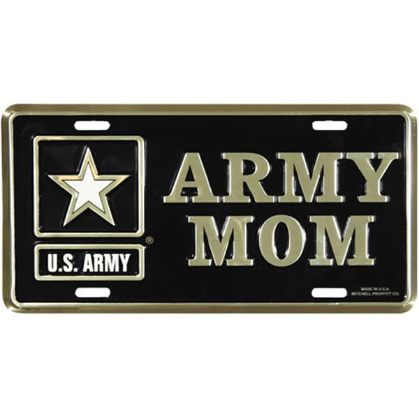 US Army Mom License Plate - See all the Plates and Frames at http ...
