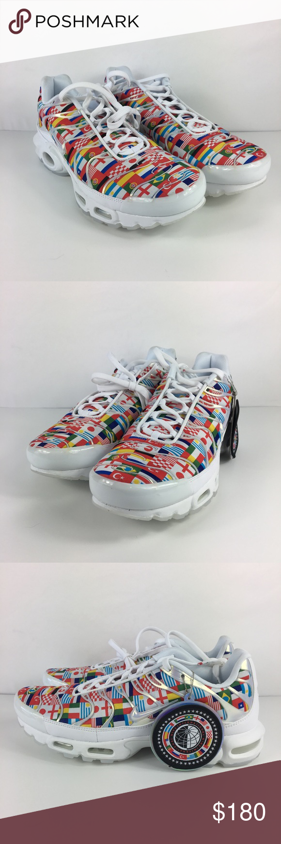 Nike Air Max Plus NIC Mens Shoe World Cup Flag Nike Air Max Plus NIC Sz 12  Mens Shoe White Multi World Cup Flag Pack AO5117-100 New without box a859a74fd