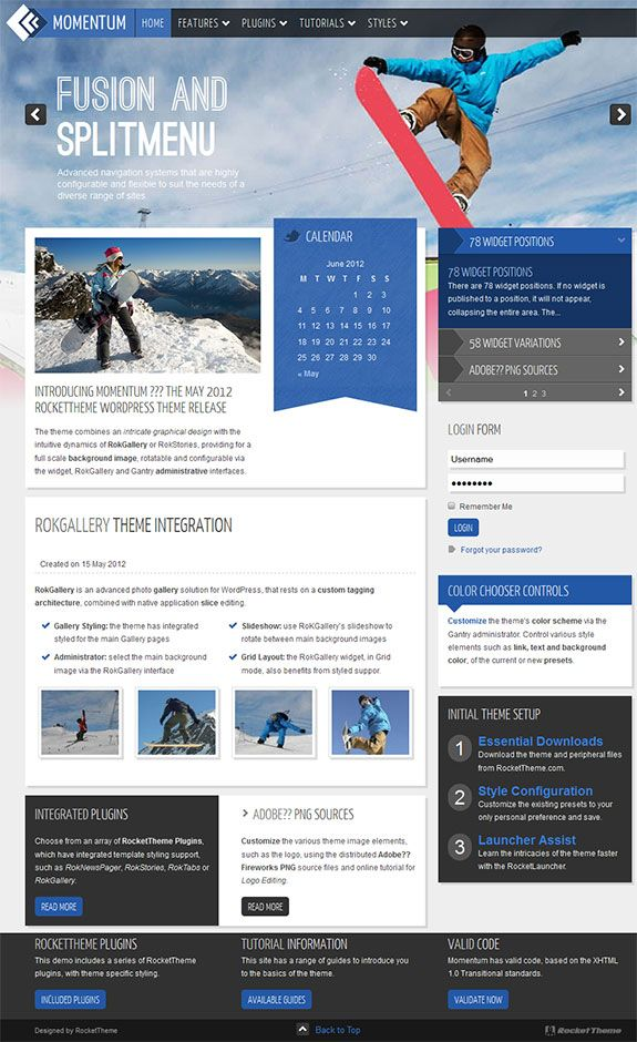 Stylish multipurpose premium WordPress theme from Rocket Theme | Web ...