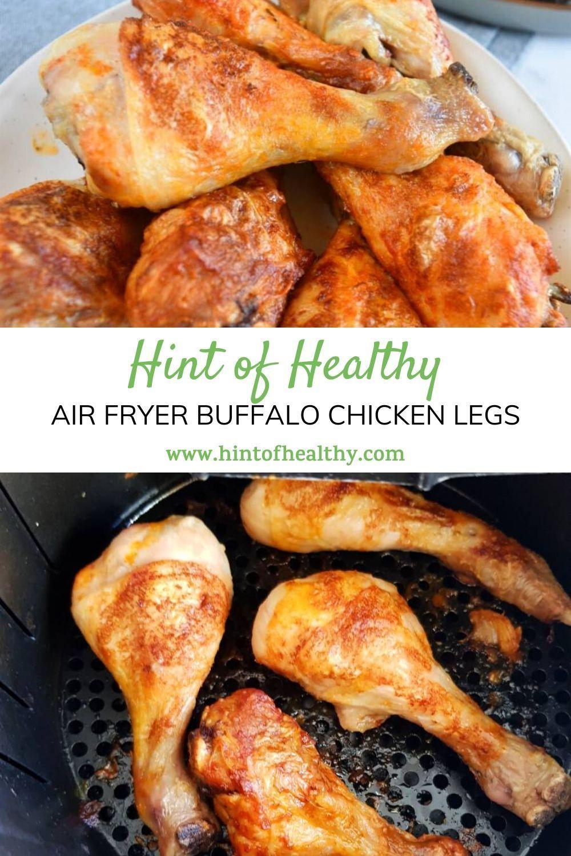 Air Fryer Buffalo Chicken Legs {Healthy & Delicious