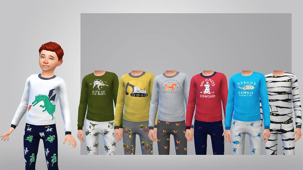 The Sims 4 Simsfosure Kids Pjs Cas Clothing Top
