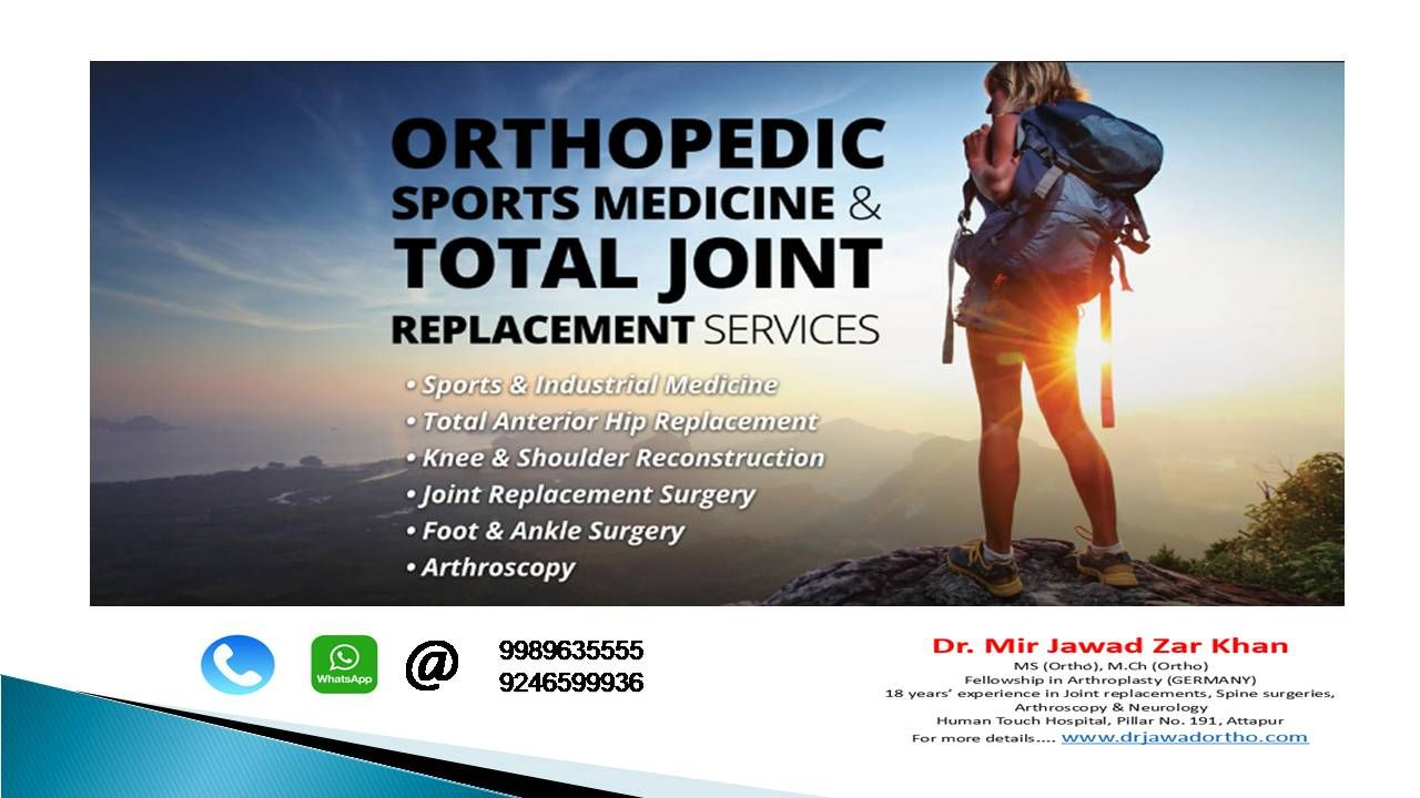 We treat conditions ranging from serious orthopaedic issues