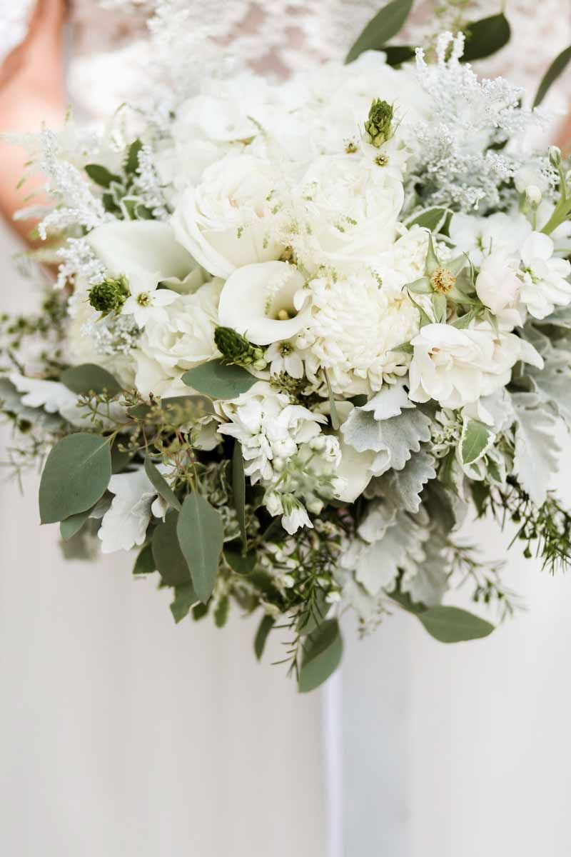 White and Green bridal Bouquet by Events by the Flower Studio ...