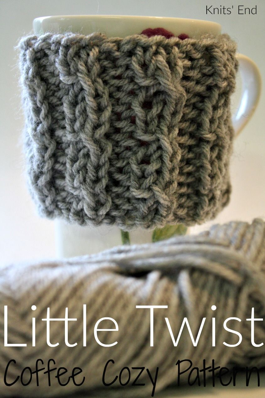 Knitted Coffee Cozy Pattern quick and easy DIY, perfect for gifting ...