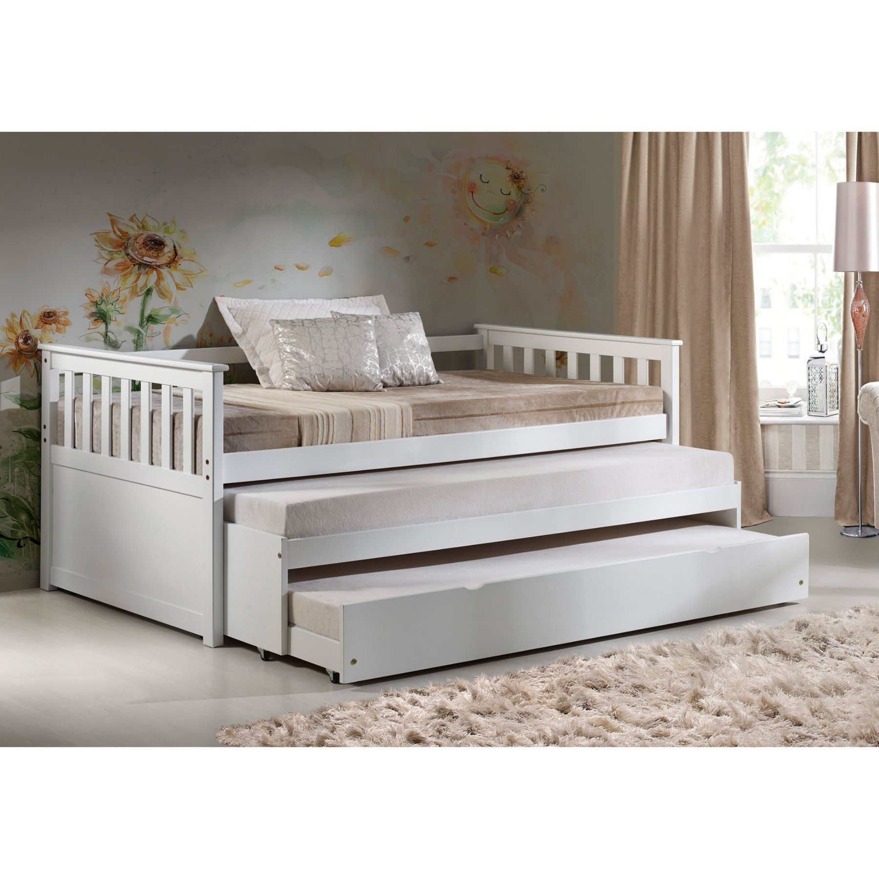 Acme Furniture Cominia Wooden Daybed With Pull Out Bed And