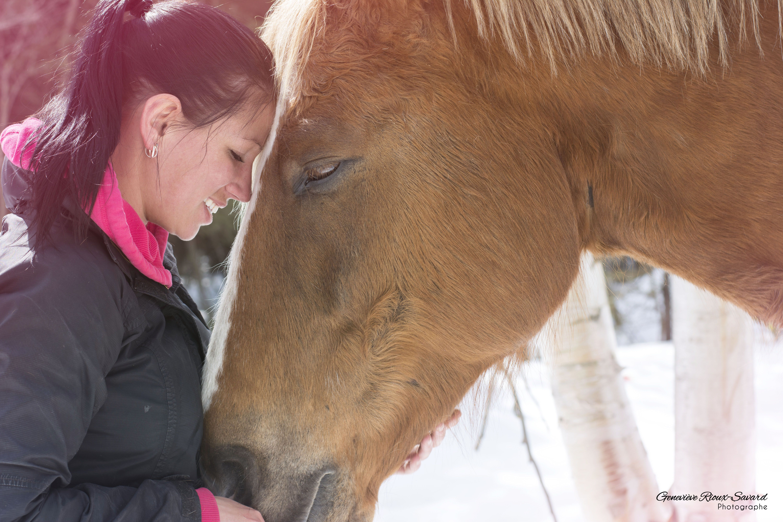 * Mélodie et son cheval *  Avril 2014
