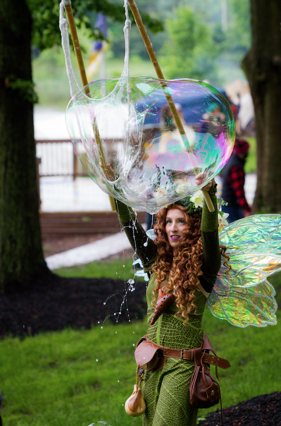 Faerie Bubbles at New Jersey Renaissance Faire at Liberty Lake featuring Meadowlark The Faerie