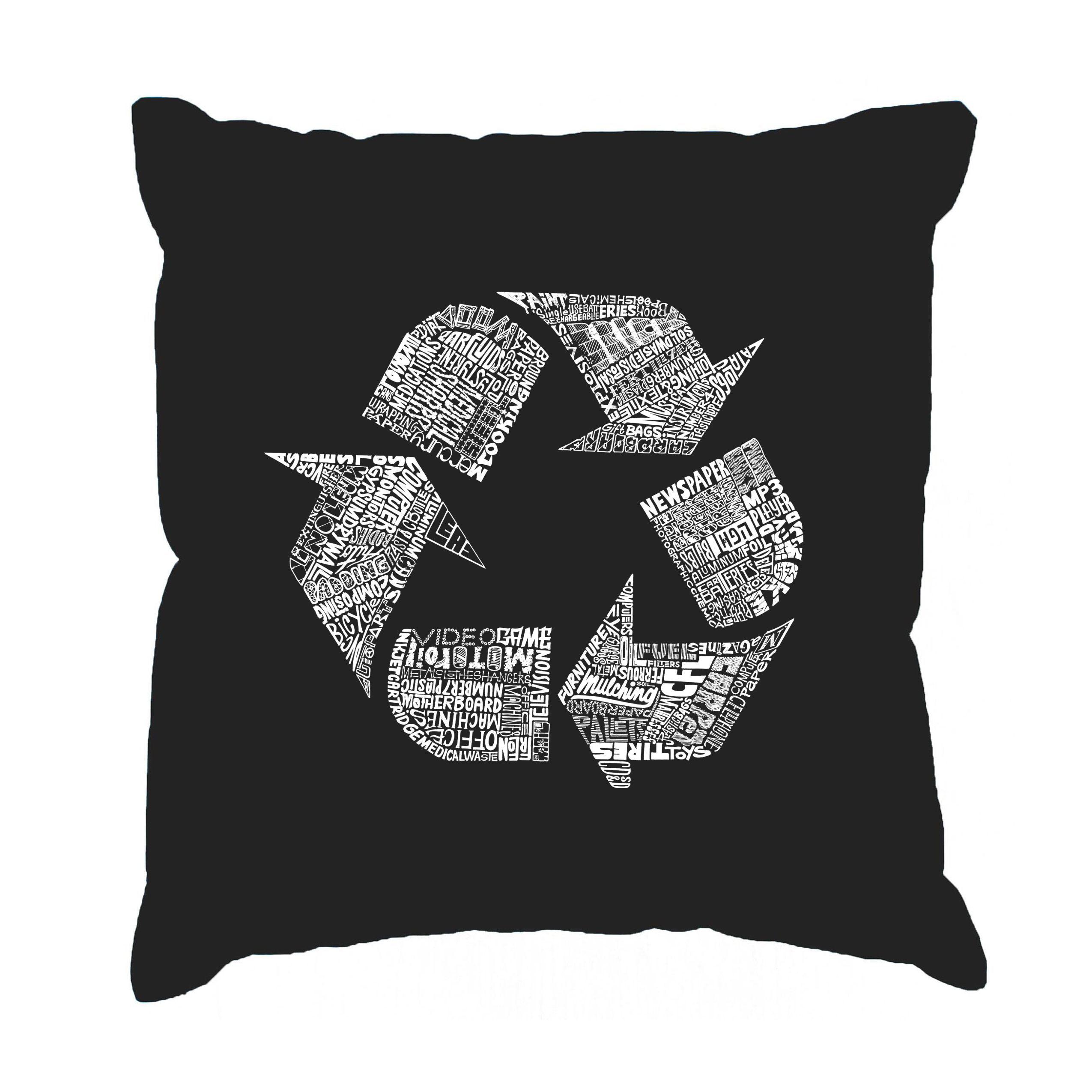 Black Cotton Throw Pillows : LA Pop Art 86 Recyclable Products Black Cotton 17-inch Throw Pillow Cover (Black), Size 17 x ...